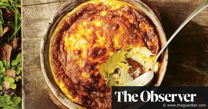 Sweetcorn, rosemary and smoked cheddar soufflé by Gill Meller