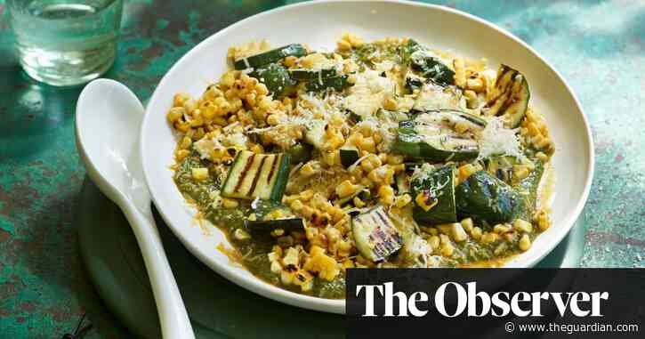Courgette, sweetcorn and chermoula by Helen Graham