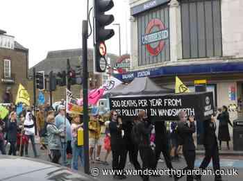Extinction Rebellion stage march through Wandsworth