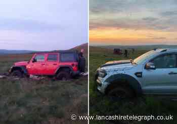Cars got stuck while causing 'extensive damage' while illegally off-roading