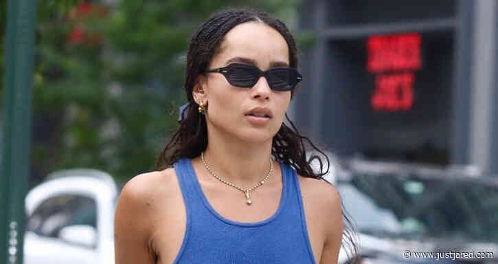 Zoe Kravitz Goes Braless While Meeting Up with Friend for Lunch