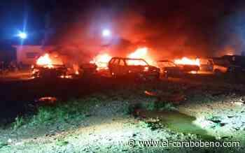 Incendio en estacionamiento de tránsito de Guacara se registró anoche. Avance - El Carabobeño