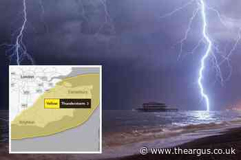 Brighton weather: Thunderstorms to batter city amid yellow warning