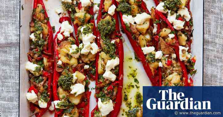 Thomasina Miers' recipe for romano peppers stuffed with herbs, olives and goat's cheese | The simple fix