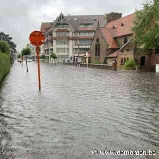 Live - 'Enorm veel regen op korte tijd': ook wateroverlast in Knokke