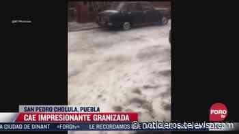 Cae impresionante granizada en San Pedro Cholula, Puebla - Noticieros Televisa