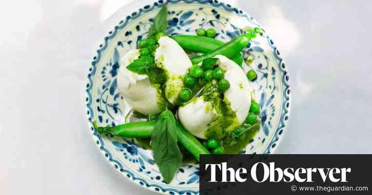Nigel Slater's burrata and peas
