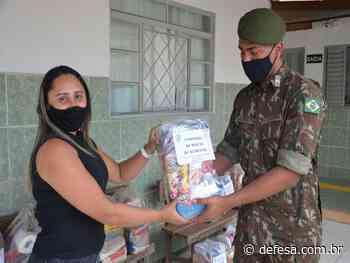 Companhia de Comunicações realiza doação de alimentos em Cristalina (GO) - Defesa - Agência de Notícias