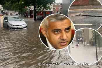 London floods: Sadiq Khan says tacking climate change key priority