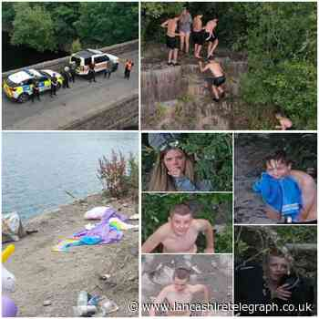 Another water warning after kids hop through private gardens to swim in quarry