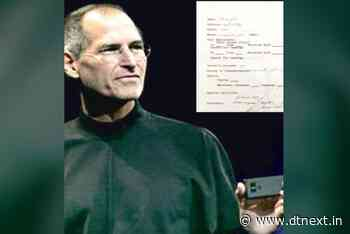 Jobs's 1973 job application auctioned in physical, NFT versions - DTNEXT