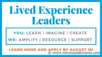 Stories for Good: Engage Winona Lived Experience Leaders program open for applications - Winona Daily News