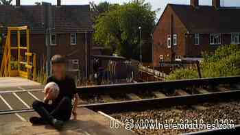 Video shows kids on train line between Hereford and Worcester