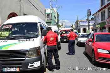 Sancionan a cinco colectivas en Tulancingo; una se va al corralón - Criterio Hidalgo