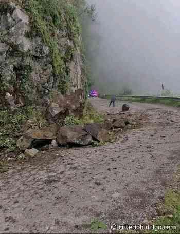 Lluvias causan derrumbes en la Tenango-Tulancingo - Criterio Hidalgo