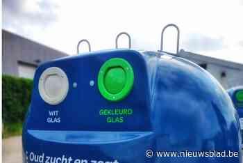 Groene glasbollen Igean kleuren blauw