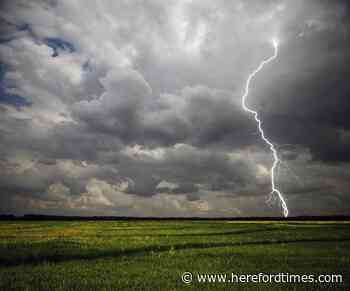 Thunder and hail hit as storms arrive in Herefordshire