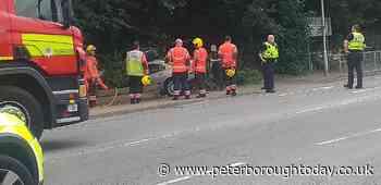 Driver injured in crash on main Peterborough road - Peterborough Telegraph