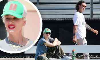 Gwen Stefani and ex-husband Gavin Rossdale keep their distance at son's game after wedding to Blake