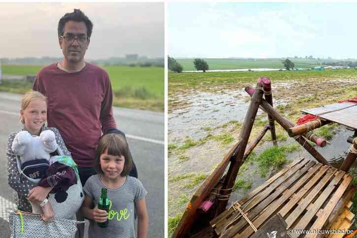 Onheil achtervolgt KSA: na zondvloed in Ardennen, overstroming op 'cadeauweide' Dranouter