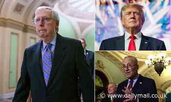 Trump urges Republicans to halt infrastructure negotiations until they get a majority