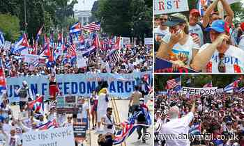 Thousands of Cuban protesters march on Washington for the second day