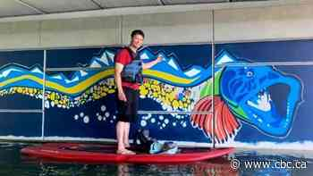 Calgary mural coined 'Bownessie' tells fictional story of creature found in Bowness lagoon