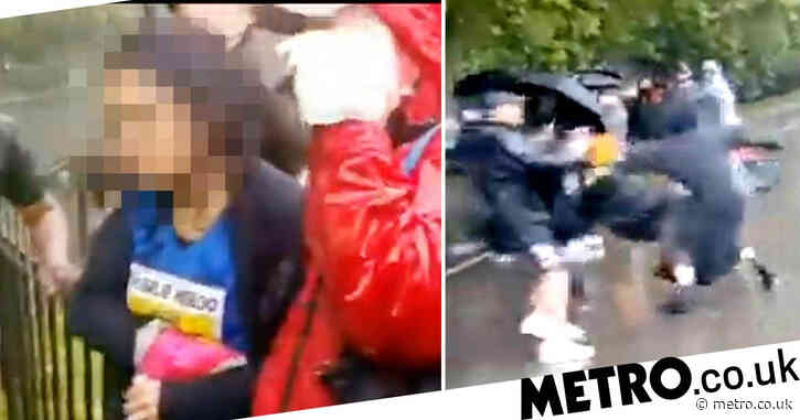 Counter-terror police lead probe into stabbing of woman with Charlie Hebdo shirt