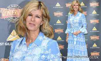 Kate Garraway cuts a stylish figure in a maxi dress at Wonderville opening night