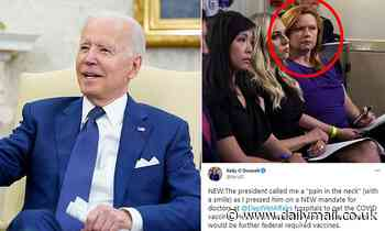 Biden calls NBC News reporter Kelly O'Donnell 'pain in the neck' for asking about VA vaccine mandate