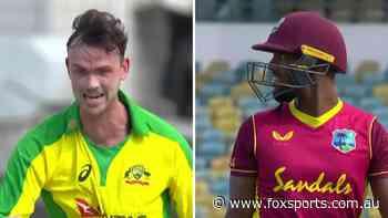 LIVE: Clumsy third umpire makes bizarre button blunder as Aussies rip Windies
