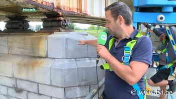 Nog zeker tot donderdag geen zwaar verkeer over brug in Maaseik, maar schade door overstroming lijkt mee te vallen - TV Limburg