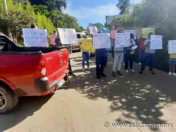 En Xalapa, vecinos de la colonia El Arenal protestan por falta de agua potable - El Dictamen