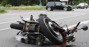 Motorradfahrer nach Zusammenstoß mit Auto schwer verletzt - Mindener Tageblatt