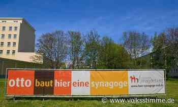 Brandanschlag in Magdeburg auf Banner für Synagogenneubau - Volksstimme
