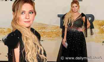 Abigail Breslinstuns in an embellished black tulle gown at thepremiere of Stillwater in NYC