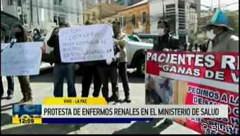 La Paz: Enfermos renales protestan en el Ministerio de Salud - eju.tv