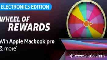 Amazon Electronics Edition Wheel Of Rewards Quiz: Win Apple MacBook Pro - Gizbot