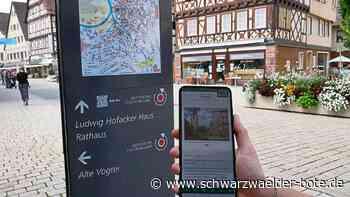 Einfach QR-Code einscannen - Digitale Audio-Tour führt durch Nagolds Altstadt - Schwarzwälder Bote