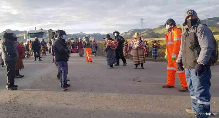 Las Bambas: corredor minero permanece bloqueado por cuarto día consecutivo por protestas - Diario Gestión