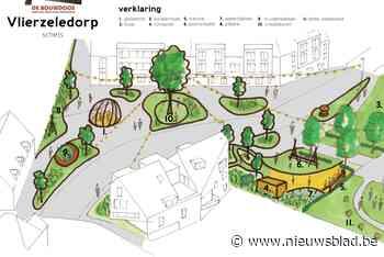 Eerste schets voor nieuw Vlierzeledorp voorziet ruimte voor tribune, speeltuigen en blotevoetenpad