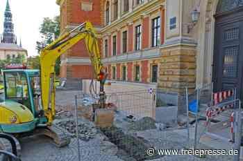 Altehrwürdiges Landgericht bekommt neuen Eingang - Freie Presse