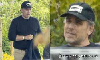 Hunter Biden grabs coffee with a friend in Malibu