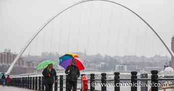 Hour by hour weather show when thunderstorms are expected to hit North East