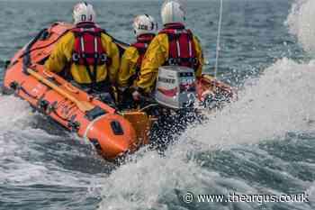 Fisherman thanks Shoreham Lifeboat for saving his life
