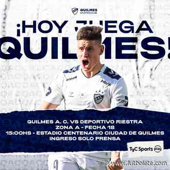 Ver en vivo Quilmes vs Deportivo Riestra por la fecha 18 de la Primera Nacional Argentina - Futbolete