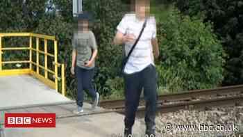 Footage shows children playing on Malvern railway lines