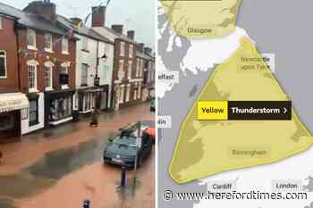 Weather: more thunderstorms on the way after flash flooding hits Herefordshire