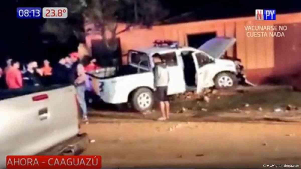 Varios heridos tras choque de una patrullera contra una vivienda en Yhú - ÚltimaHora.com