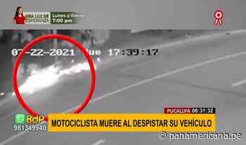 Pucallpa: motociclista sin casco muere tras despistar su vehículo - Panamericana Televisión